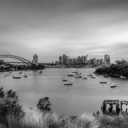 Waverton - Sunset, B&W