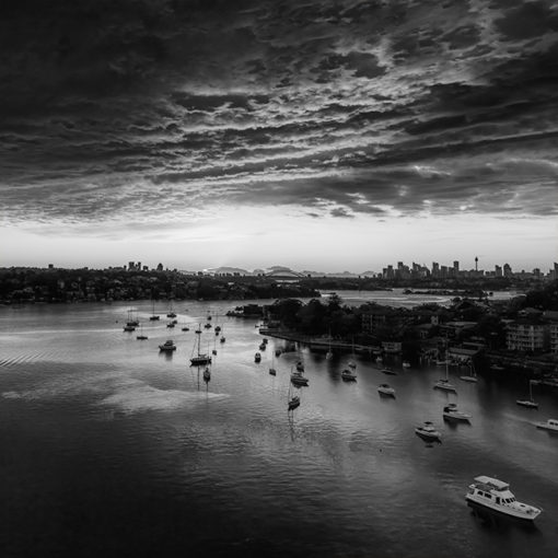 Gladesville Bridge, Sunrise (B&W) | Sydney Shots