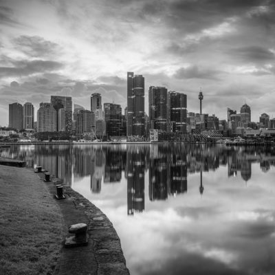 Balmain East, Sunrise (B&W) | Sydney Shots