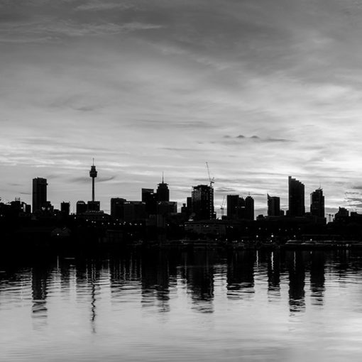 Blackwattle Bay, Sunrise (B&W) | Sydney Shots