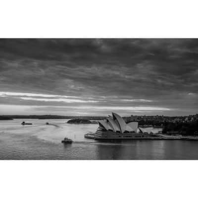 Sydney Harbour, Sunrise (B&W) | Sydney Shots