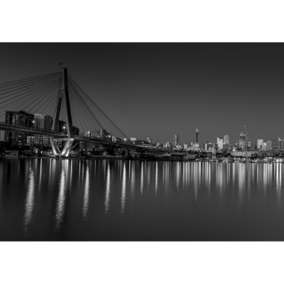 Blackwattle Bay, Night (B&W) | Sydney Shots