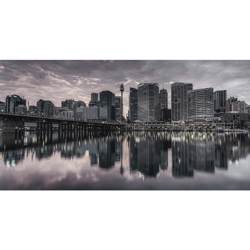 Darling Harbour, Sunrise B&W | Sydney Shots