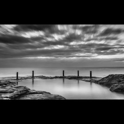 Ivor Rowe Rockpool (B&W) | Sydney Shots
