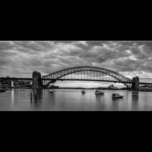 McMahons Point, Sunrise 2 (B&W) | Sydney Shots