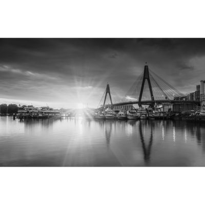 Sydney Fish Markets, Sunset (B&W) | Sydney Shots
