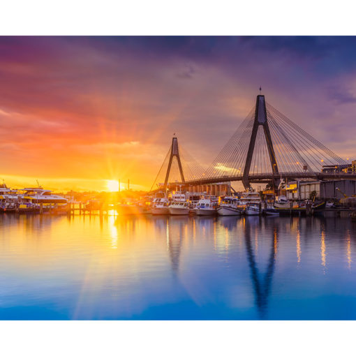 Sydney Fish Market, Sunset 10x8 | Sydney Shots