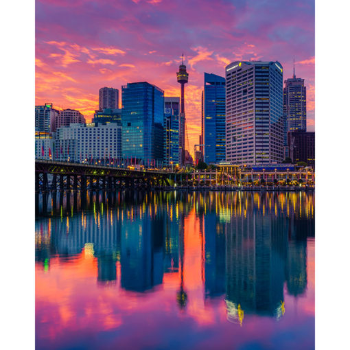 Darling Harbour, Sunrise 8x10 | Sydney Shots