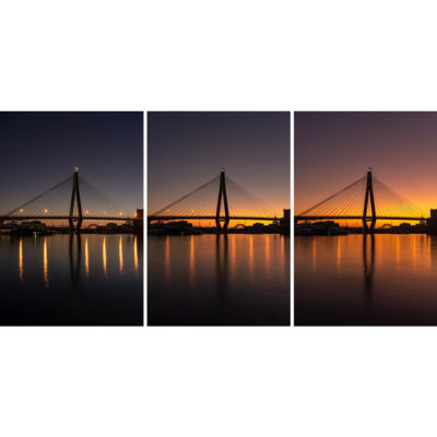 Anzac Bridge, Sunrise Triptych | Sydney Shots