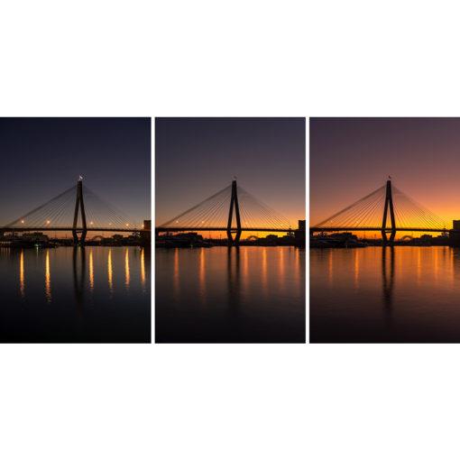 Anzac Bridge, Sunrise Triptych | Sydney Shots